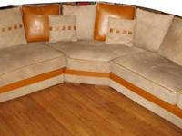 Modern Designer Italian Leather Sectional Sofa in great