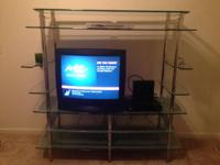 This home entertainment center works terrific in the