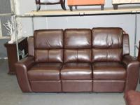 This is a brand new natural leather adhered sofa