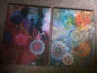 Two modern-looking pictures, very good condition,