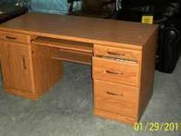Just in, this large sized oak rolltop desk, just like