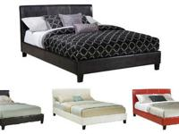 NEW YORK PLATFORM BED * Covered in a durable vinyl *
