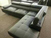 Type:Furniture Brand new modern sectional faux leather,