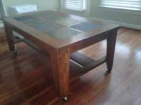 Selling a very nice modern tile top coffee table with