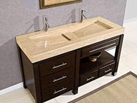 Granite Stone Top Compact Bathroom Sink Vanity - G1016 for ...