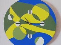 "Modern Wall Clock. ""GO GREEN"". Functional Wall Décor."