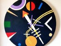 "Modern Wall Clock. ""NIGHT SKY"". Functional Wall Dcor."