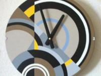Modern Wall Clock. Art Deco Style. Decorative Wall