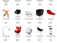 Several modern furniture chairs are in stock. Please