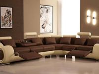 New Arrival at H3 Furniture. This sectional has round
