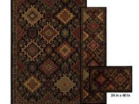 The Ankara Black area rug is easy to maintain with spot