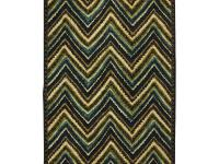 Energetic shades of green and teal give this chevron