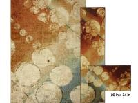 The area rug, Rain, features contemporary styling and