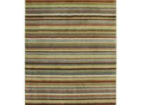 Simple and stylish this muted striped rug is a great