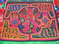 Molas are hand sewn patterned fabrics that forms a