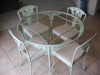 Molla - Pomegranate pattern Cast Wrought Iron Green