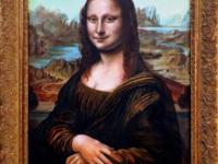 Mona Lisa, after Leonardo: 21x30 inches. Oil on wood