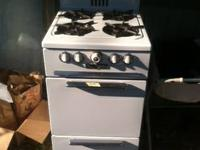 "Monarch gas range (1950's?), apartment sized 20"" wide,"