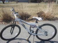 THIS BIKE IS LESS THAN 1 YEAR OLD. IT HAS ONLY ABOUT 10