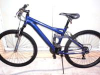 "MONGOOSE ALUMINUM DOUBLE SUSPENSION MOUNTAIN BIKE, 26"","