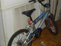 mongoose bicycle grey and blue call Donna at  Location: