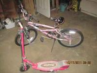 I have a girls light purple and gray mongoose bike in