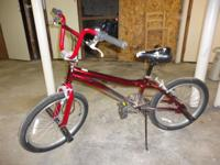 Red and Silver Mongoose BMX, only used it for about 3