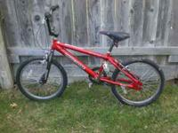 "Mongoose BMX ""Strike,"" red paint, 20"" wheels, hand"