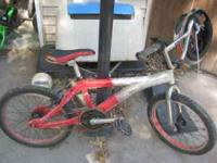 Up for grabs is a Mongoose Californian racing bmx. Its
