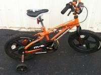 Mongoose  M-6  Orange   Boys Bike  With Training