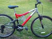 "mongoose mountain, bike, 26"", 21 speed, element racer"