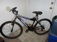 "Mongoose 21 spd. mountain bike with 26"" aluminum frame,"