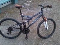 1 Mongoose Spectra dual suspension bike. 21spd, 26""