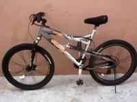 "MONGOOSE XR 250, 26"", DUAL SUSPENSION MT. BIKE. DISC"