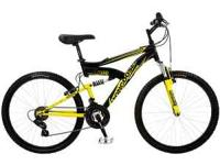 selling black/yellow mongoose xr-75 aluminum frame dual