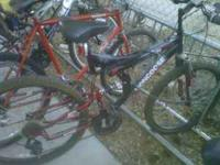 Black and red Mongoose mountain bike for sale great