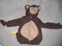 OLD NAVY MONKEY COSTUME SIZE 2T/3T Used Once/Perfect