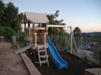 Hi folks, We are selling a great swing set. It's called