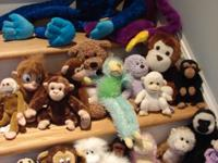 This nice assortment of twenty (20) stuffed monkeys