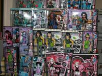I have a LARGE COLLECTION OF MONSTER HIGH DOLLS IN