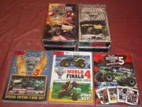 Monster Jam World Finals 1 and 2 on VHS and 3-5 on DVD