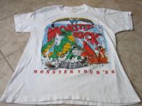 Monsters Of Rock Tour 1988 White t shirt. Van Halen,