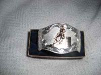 Montana Silversmith leather watch and Barrel Racer cuff