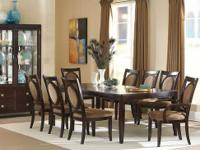 This Montblanc dining room set comes with the table,