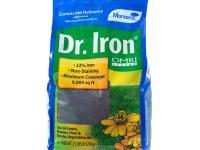 The Monterey Dr. Iron 7 lb. Organic Lawn Pellets help