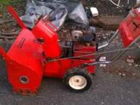 5 HP briggs motor. Rings great. New Carb, gas tank and