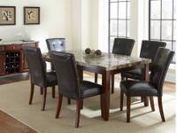 This Montibello dining room set comes with the table,