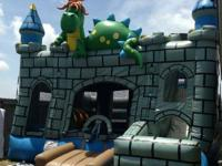 OBSTACLE COURSE DRAGON CASTLE COMBO WITH SLIDE - $200