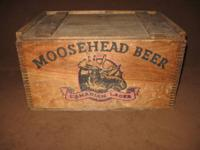 Vintage Moosehead Beer Box from 1979-80, very rare in