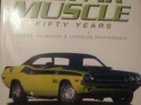 I am selling a Mopar Muscle Cars book. It looks back to